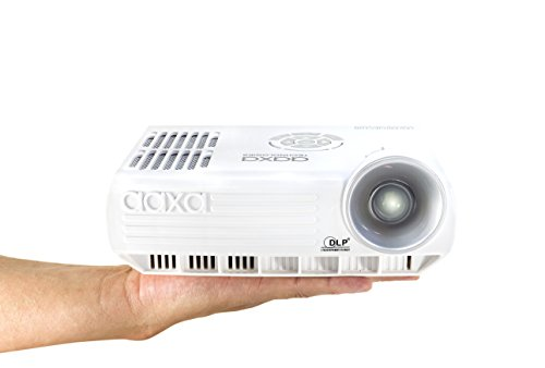 AAXA M4 Mobile LED Projector with 90 Minute Battery Life, WXGA 1280x800 Resolution, 800 Lumens, DTV Onboard, 20,000 Hour LED