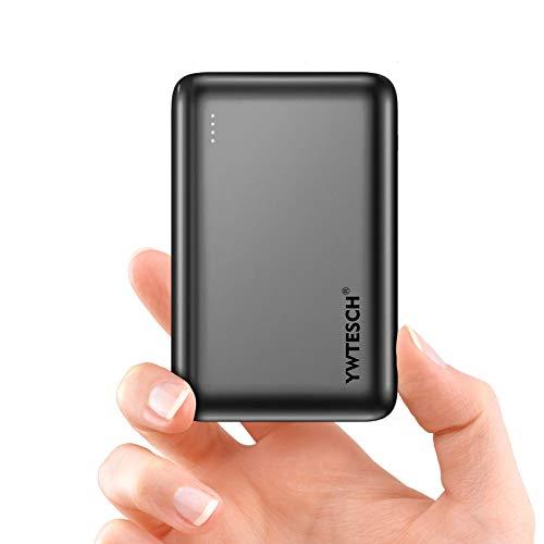 YWTESCH Power Bank 20000mAh, Caricabatterie Portatile in Lega di Alluminio, 2 Uscite USB-A e 1 Ingresso Type-C, Mini Power Bank (Grigio) …