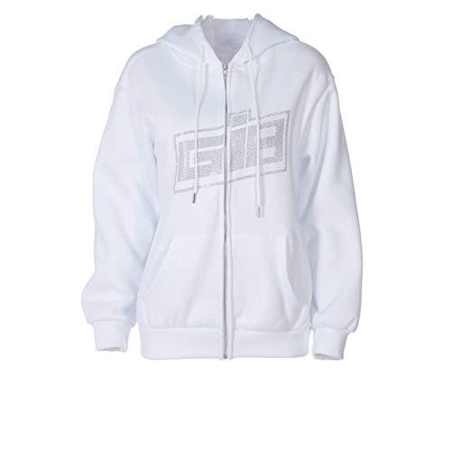 Cslada Y2K Mode Strass Reißverschluss Übergroße Hoodies E-Girl Vintage Solid Letter Langarm Schwarz Sweatshirts Herbst Outfits