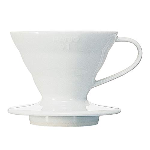 Hario V60 Ceramic Coffee Dripper, Size 01, White
