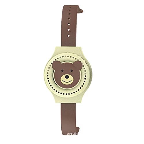AOOF Creative Watch Fan USB Mini Charging Lazy Mute Portable Handgelenk Fan Kinder Student Geschenke Brownbear