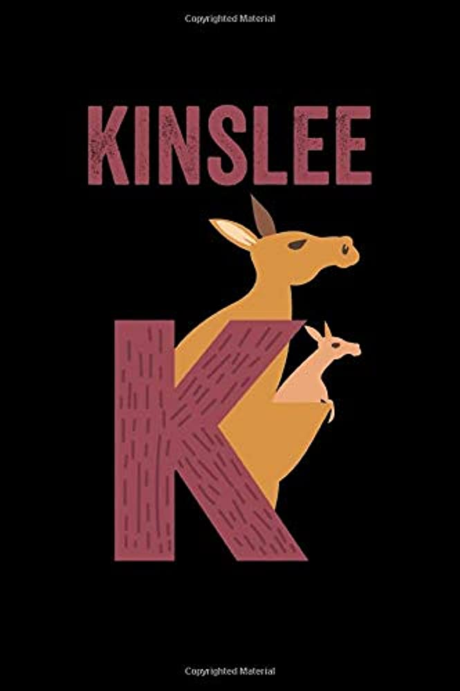 ほとんどの場合魔術クスクスKinslee: Journal (Diary, Notebook) Personalized Custom Name Alphabet Kangaroo Birthday Gift for Girls