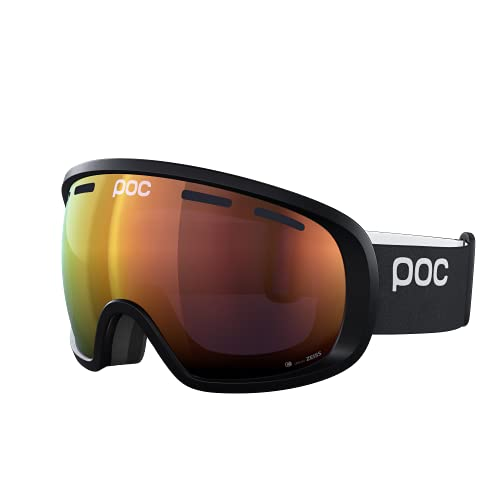 POC Fovea Clarity Gafas de Esquí, Unisex Adulto, Negro (Uranium Black/Spektris Orange), Talla Única