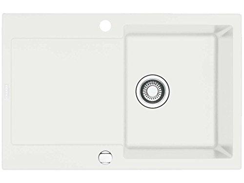 Franke Maris MRG 611 1140055697 - Fregadero (material Fragranite DuraKleenPlus), montaje encastre, reversible, color blanco