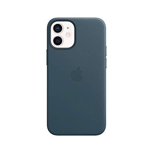 Apple Leder Hülle mit MagSafe (für iPhone 12 Mini) - Baltischblau