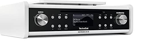TechniSat DIGITRADIO 20 CD – Modernes & kompaktes DAB+ Küchen- & Badezimmerradio (Empfangstarkes UKW Unterbauradio mit CD Player & Uhr)