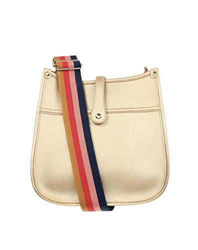 """Milly Kate Crossbody Bag with Detachable Strap, Stylish, Sophisticated, Trendy, Designer Purse Exclusive to Milly Kate, Gold Hardware, 11"""" x 11"""""""