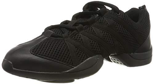 Bloch .524 Criss-Cross- Dance-Sneaker, Turnschuh, Tanzschuh, verkreuzt, Schwarz - Schwarz - Größe: 38 2/3 EU