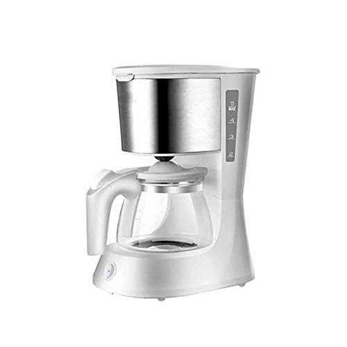 Ekspres do kawy Przelewowy ekspres do kawy Ekspres do espresso Obsługa jednym przyciskiem ekspres do kawy o dużej pojemności Odpowiedni do domowego biura (Kolor : Biały, Rozmiar : Jeden rozmiar)
