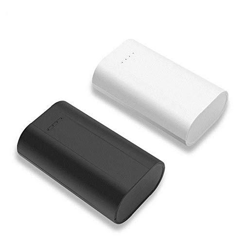 BrightBulb Tomo 26650 Li-On Batería Cargador Banco De Energía Portátil Viaje Cámping Senderismo USB Batería Cargador - Blanco