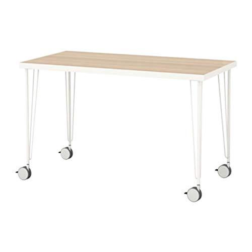 Ikea Linnmon/Krille 492.142.31 - Mesa de Madera de Roble Blanco con Efecto...