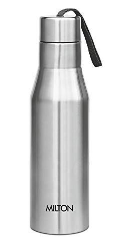 Milton Super 1000 Single Wall Stainless Steel Bottle, 1000 ml, Silver,Set of 1