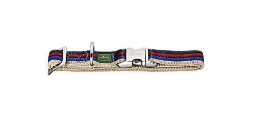 HUNTER DAVAO ALU-STRONG Halsung, Halsband für Hunde, Nylon, Aluminium Steckverschluss, Streifen, M, mehrfarbig