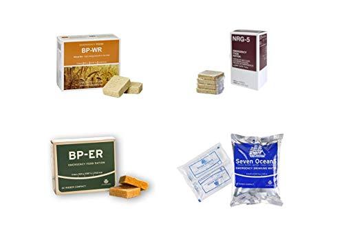 Emergency Food, Sortiment 4 x 500 Gramm, BP WR, BP ER, NRG-5, SEVEN OCEANS, Langzeitnahrung, Prepper, Krisenvorsorge, Camping (Produkte hermetisch versiegelt)