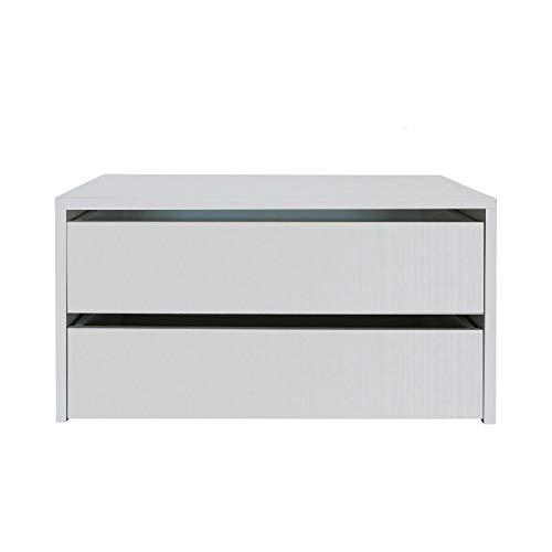 we point Cassettiera da Interno per Armadio autoportante Due cassetti cm 86,5 Bianco f.