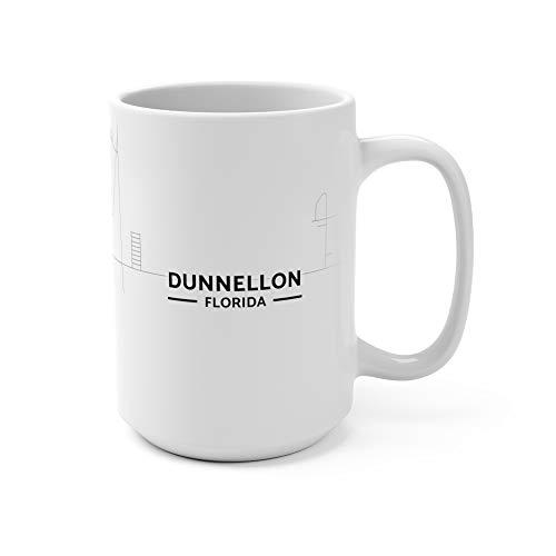 Dunnellon, Florida Map Mug (15 oz)