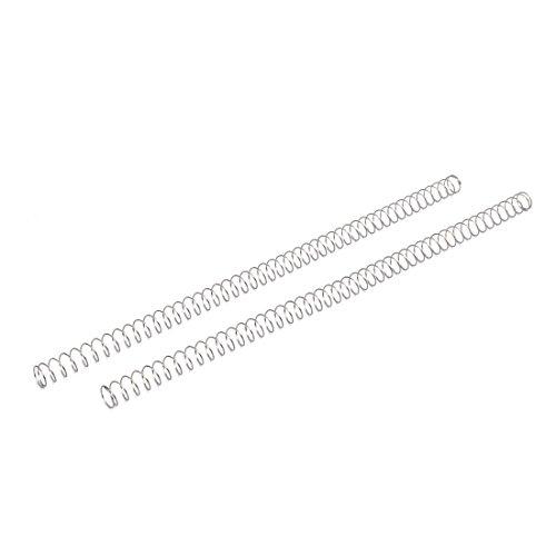 sourcingmap 2 Stück Druckfedern 0.8mmx12mmx305mm 304 Edelstahl Silber