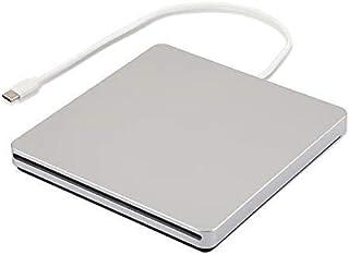 External CD DVD Drive Burner Player USB3.0 Type-C Portable Slim DVD/CD ROM Superdrive +/- RW Rewriter/Writer/Reader with H...