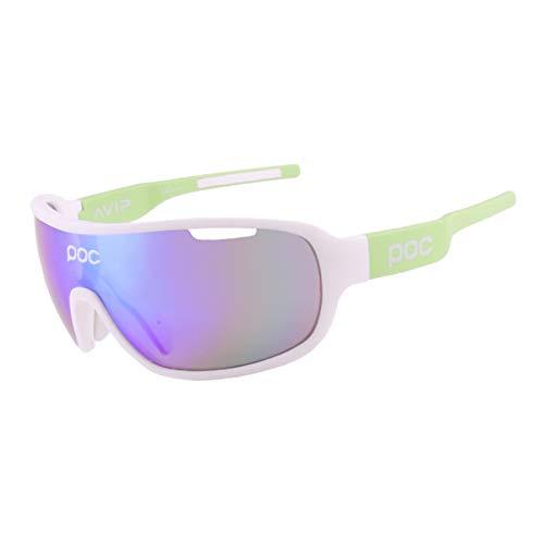 Gafas de Ciclismo Gafas Deportivas Deportivas polarizadas con 4 Lentes Intercambiables Gafas de protección anti-UV400 Pesca al Aire Libre Conducción Gafas Deportivas polarizadas,Verde