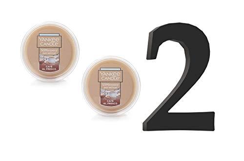 Yankee Candle Café Al Fresco Scenterpiece Easy Meltcup Wax Melt Cup 2 Units (NET WT 2.2 OZ   61g Each)