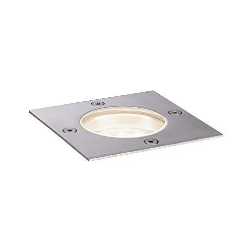 Paulmann 94227 Plug & Shine LED Außenleuchte Bodeneinbauleuchte eckig incl. 1x3,6 Watt IP65 dimmbar Außenbereich Edelstahl Gartenleuchte Metall, Kunststoff Gartenlicht 3000 K