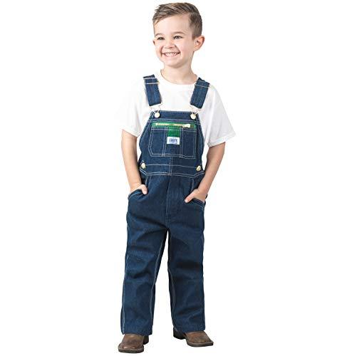 Liberty Little Pre-School Boy's Denim Bib Overall, Rigid Blue, 4