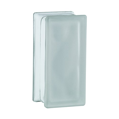 6 Stück BM Glassteine Wolke SUPER White 2-seitig satiniert (Milchglas) 19x9x8 cm - Halbstein