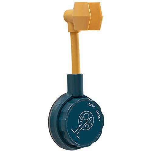 Soporte universal de ducha ajustable, soporte de cabezal de ducha, soporte de cabezal de ducha, fácil de instalar (azul-1)