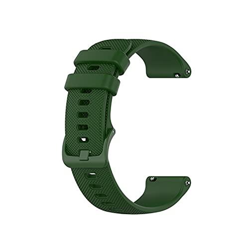 XUEXIU Smart Watch Band Strap Muñequera para Huawei Watch GT 2 42mm 46mm 20 / 22mm Correa para Honor Watch Magic para Polar Vantage M Pulsera (Color : Green, Size : For GT 2 42mm)
