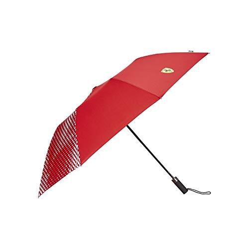 Scuderia Ferrari FW Kompakter Regenschirm, genäht, Rot