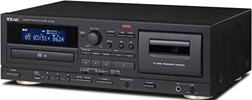 Teac AD-850 Home Audio Cassette and CD Player with USB-Recorder and Karaoke Mic (AD850B)