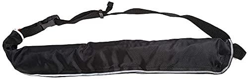 GMYQ Cinturón inflable de 4 colores para salvavidas inflables manuales, seguro para natación, cintura con cinta reflectante y silbato ajustable, color negro