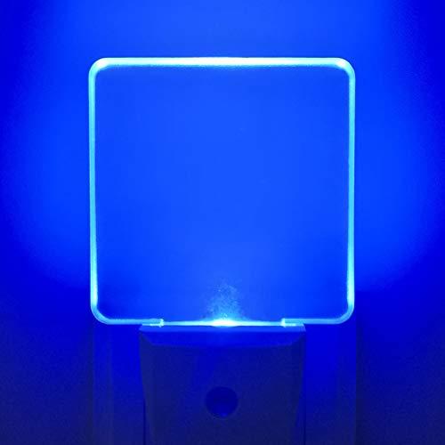 2Pcs Lámpara Nocturna con Smart Automático Sensor 0.5W LED Luz de Noche con Enchufe de Pared de Bajo Consumo,Luz Azul