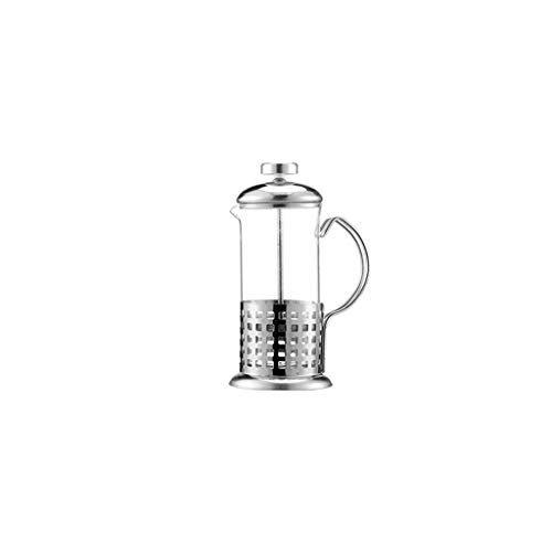 Manuelle Kaffee Espressomaschine Topf Französisch Kaffee Tee Percolator Filter Edelstahl Glas Teekanne Presse Kolben 350 ml (Color : B)
