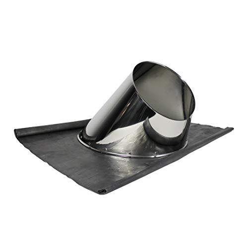 Schornstein Dachdurchführung inklusive Wetterkragen in allen Neigungen und Durchmessern (Außendurchmesser Ø200mm, 31-45° Edelstahl mit Blei)