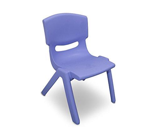 MEDIA WAVE store 173710 Silla de plástico Resistente para niños 26x30x50 cm - Azul