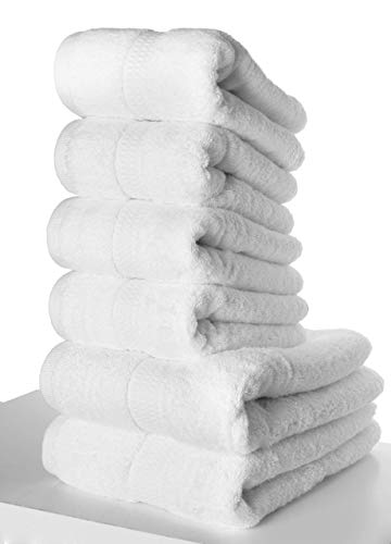PimpamTex – Set di Asciugamani Premium 700 Grammi di Asciugatura Rapida per Bagno, Cualità Superiore 100% Cotone, Set Telo Bagno + Asciugamano – (Verde, 2 di 50x100 cm + 2 di 70x140 cm)