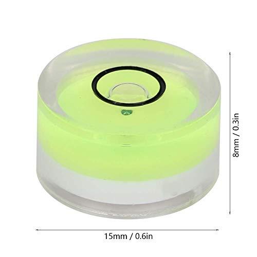 5Pcs 15mm Level Bubble,Spirit Level Bubble Mini Round Measuring Tool for Horizontal Calibration of Balance,Electronic Scale,Camera Platform