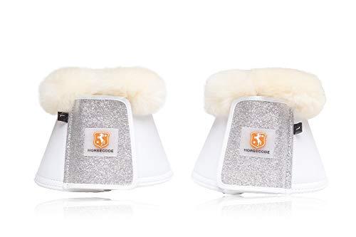 Horsecode Hufglocken White Glitter & GO XL