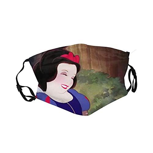 Disney Princess - Mascarillas reutilizables para la cara de algodón antipolvo, protección bucal con bucles ajustables para los oídos para adultos y hombres
