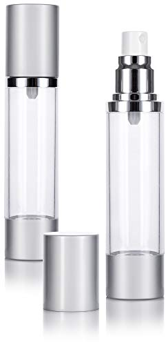 Airless Spray Bottle Silver Matte - 1.7 oz (2 Pack)
