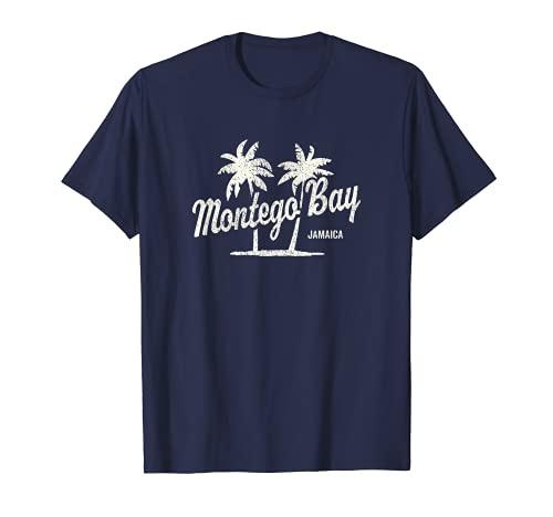 Montego Bay Jamaika Vintage 70er Palmen Grafik T-Shirt
