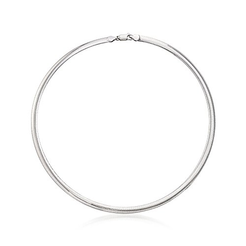 Ross-Simons Italian 6mm Sterling Silver Omega Necklace
