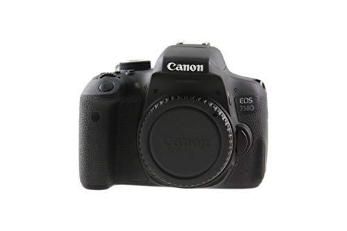 Canon EOS 750D SLR-Digitalkamera (24 Megapixel, 7,7 cm (3,0 Zoll) Display, Full-HD, APS-C CMOS-Sensor, WiFi, NFC) schwarz (Generalüberholt)