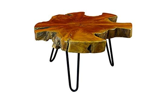 Kinaree Teak salontafel LUHU Rustiek S: 45x40-50x40x50cm naturel