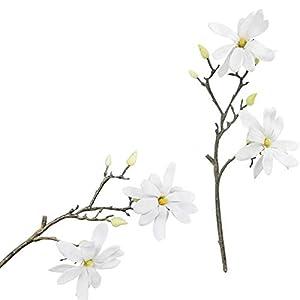 TRRT Fake Plants Artificial Magnolia Flower Branch, Simulation Silk Flowers, Home Wedding Floral Decoration Fake Flower (Color : White)