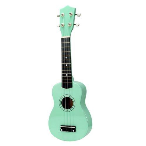 Soprano Ukulele 21 inch for Beginer Hawaii Ukulele 21' Solid Wood Guitar Ukulele classic Uke Strumming Training For Adults and Kids guitar (21'', Mint Green)