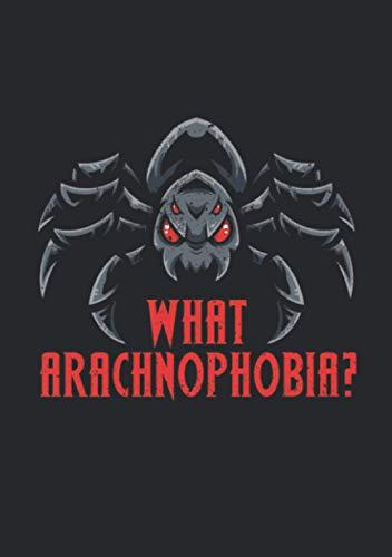 Notizbuch A5 kariert mit Softcover Design: Arachnophobie Angst vor Spinnen?Spinne Vogelspinne Terrarium: 120 karierte DIN A5 Seiten