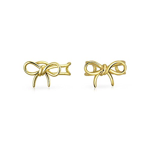 Schleife Band Knorpel Ohr Manschetten Clip Wrap Helix Ohrringe Nicht Durchbohrt Ohr 14K Gold Platte 925 Sterling Silber