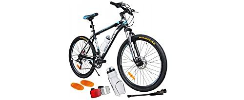 BDW Mountainbike Shimano 18 Gang Schaltung, Scheibenbremse 26 Zoll Reifen   18 Zoll Rahmen MTB   Additive ! VIELE Farbe (BLAU)